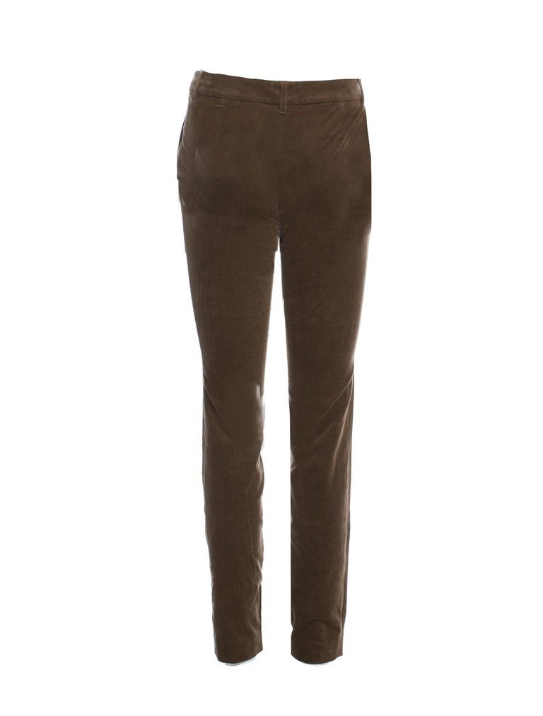 Women's New Gucci Olive Brown Velvet Runway Pants Pre-Fall 2011 Sz 38 $1499 For Sale
