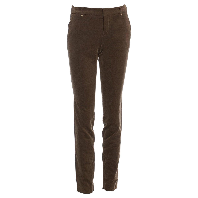 New Gucci Olive Brown Velvet Runway Pants Pre-Fall 2011 Sz 38 $1499