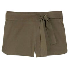 NEW Gucci Olive Hot Pants Shorts with Bamboo Detail Belt