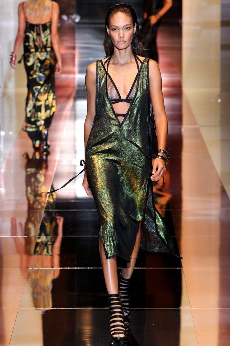 Brand New Stunning Gucci Python Booties S/S 2014 Runway & Ad Size: 37.5 Green Python Heel 4.5