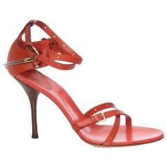 New Gucci Runway Leather Horsebit Heels Sz 10