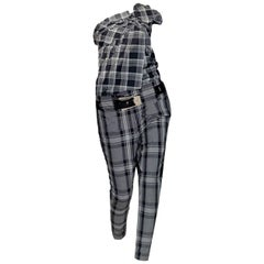 New Gucci Runway Wool Plaid Pants Slacks Sz 44