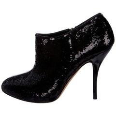 New Gucci Sequin Evening Boots Booties Heels Sz 38