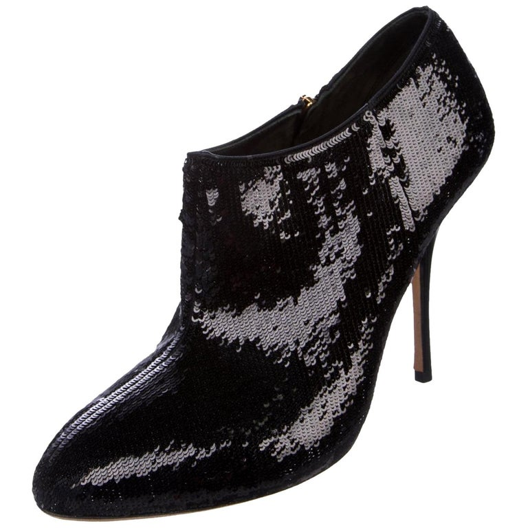 New Gucci Sequin Evening Boots Booties Heels Sz 38 For Sale