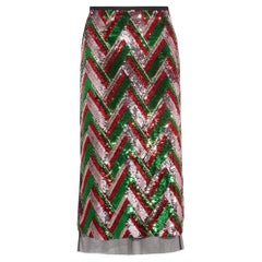New GUCCI Sequinned Tulle Midi Skirt IT38 US 2-4