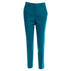 New Gucci Teal Wool & Cashmere Pre Fall 2013 Pants Sz 40
