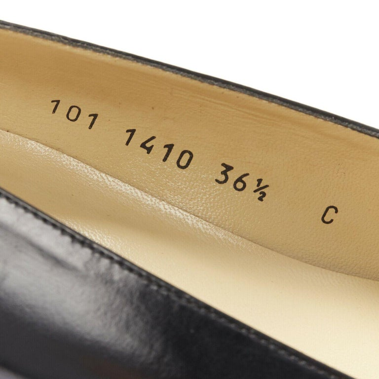 new GUCCI TOM FORD gold buckle polished gold leather square toe loafer EU36.5C For Sale 5