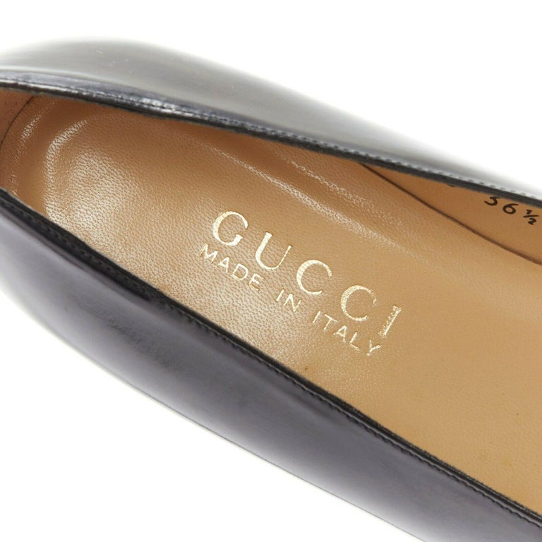 new GUCCI TOM FORD gold buckle polished gold leather square toe loafer EU36.5C For Sale 4