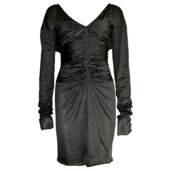 NEW Gucci Tom Ford Spring 2003 Ruched Knitted Silk Dress