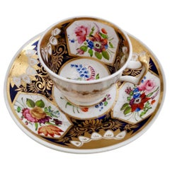 New Hall Coffee Cup and Saucer, Pattern 2101, circa 1815