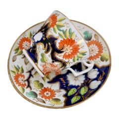 New Hall Porcelain Coffee Cup, Exceptional Imari, Regency, 1815-1820