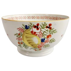New Hall Porcelain Slop Bowl, Yellow Shell Pattern 1045, ca 1810