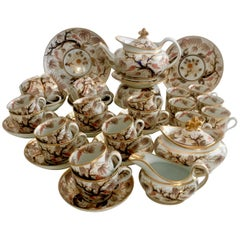 New Hall Porcelain Tea Service, Grey Imari Vine Patt. 446, Georgian, circa 1810