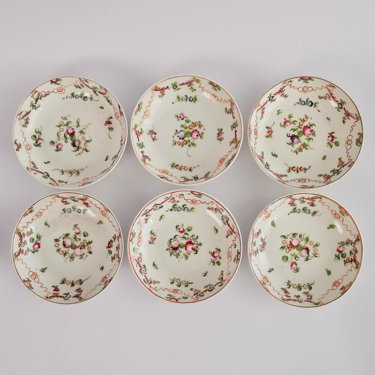 New Hall Porcelain Tea Service Knitting Wool Pattern Georgian Regency circa 1800 For Sale 4