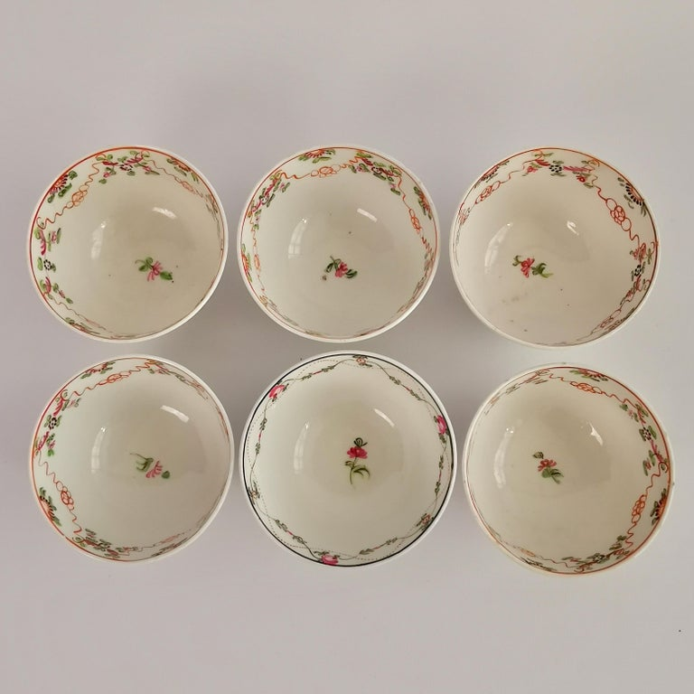 New Hall Porcelain Tea Service Knitting Wool Pattern Georgian Regency circa 1800 For Sale 5