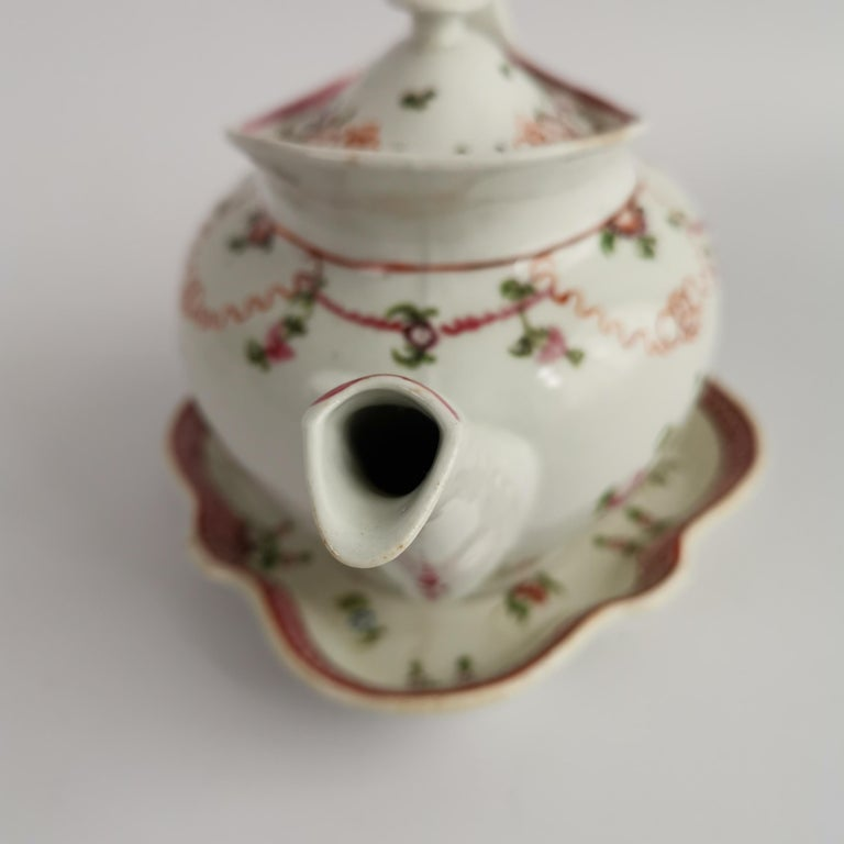 New Hall Porcelain Tea Service Knitting Wool Pattern Georgian Regency circa 1800 For Sale 6