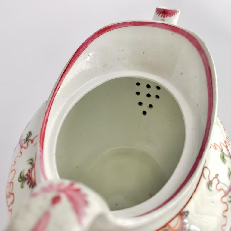 New Hall Porcelain Tea Service Knitting Wool Pattern Georgian Regency circa 1800 For Sale 7