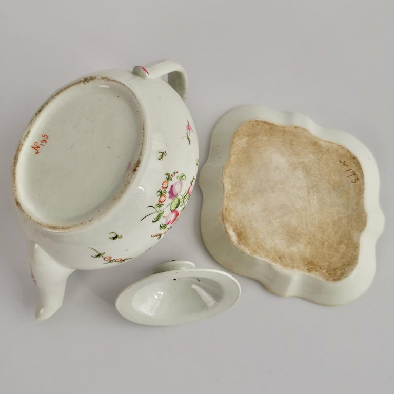 New Hall Porcelain Tea Service Knitting Wool Pattern Georgian Regency circa 1800 For Sale 10