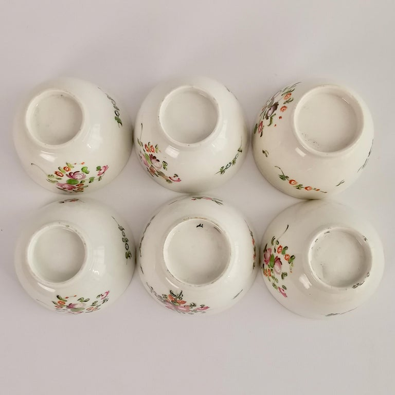 New Hall Porcelain Tea Service Knitting Wool Pattern Georgian Regency circa 1800 For Sale 12