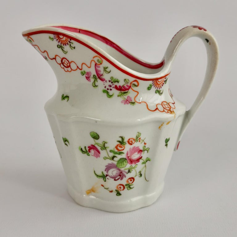 Late 18th Century New Hall Porcelain Tea Service Knitting Wool Pattern Georgian Regency circa 1800 For Sale