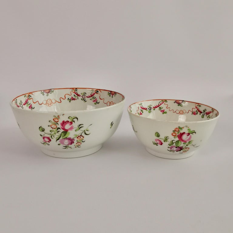 New Hall Porcelain Tea Service Knitting Wool Pattern Georgian Regency circa 1800 For Sale 1