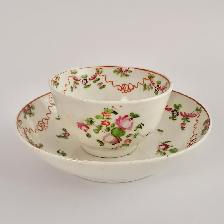 New Hall Porcelain Tea Service Knitting Wool Pattern Georgian Regency circa 1800 For Sale 2