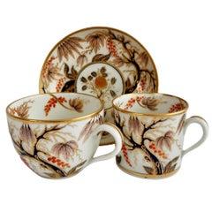 New Hall Porcelain Teacup Trio, Imari Vine Pattern, Regency, ca 1810