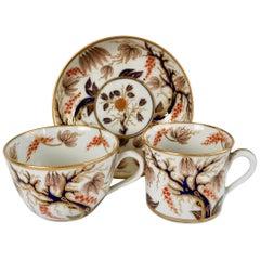 New Hall Porcelain True Trio, Imari Vine Patt, 446, Regency, circa 1810