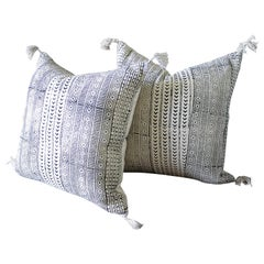 New Hand Blocked Printed Pillows with Tassels