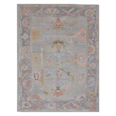 New Hand Knotted Wool Turkish Oushak Rug