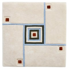 """New """"Heal"""" by Rhyme Studio White, Gold, Green, Brown Wool Rug or Tapestry"""
