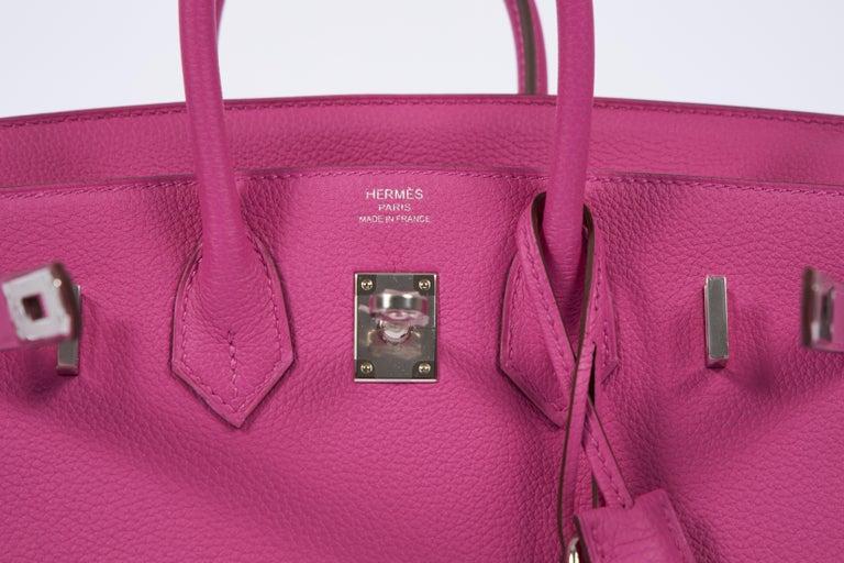 NEW Hermès 25cm Magnolia Togo Birkin in Box 2