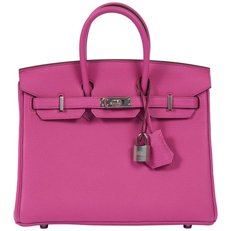 NEW Hermès 25cm Magnolia Togo Birkin in Box
