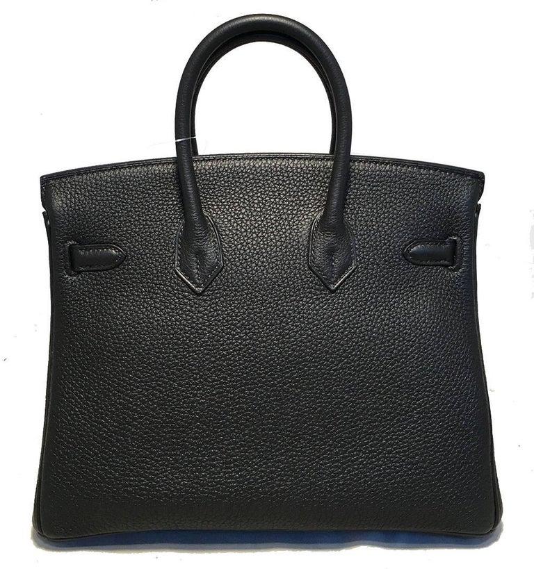Hermes Black Clemence 25cm GHW Birkin Bag  For Sale 1