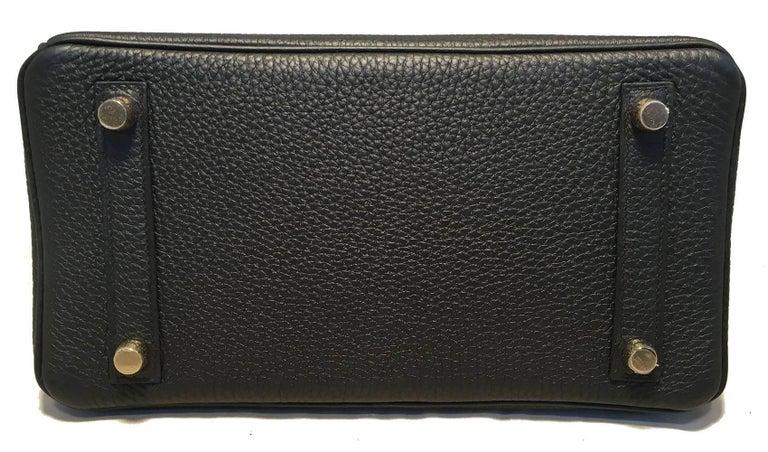 Hermes Black Clemence 25cm GHW Birkin Bag  For Sale 2