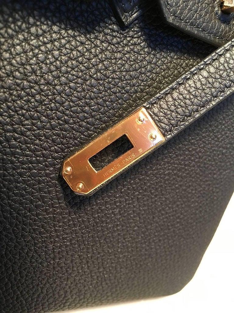 Hermes Black Clemence 25cm GHW Birkin Bag  For Sale 3