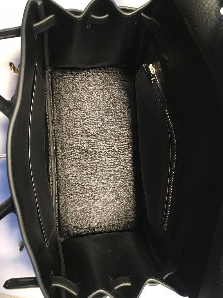 Hermes Black Clemence 25cm GHW Birkin Bag  For Sale 5