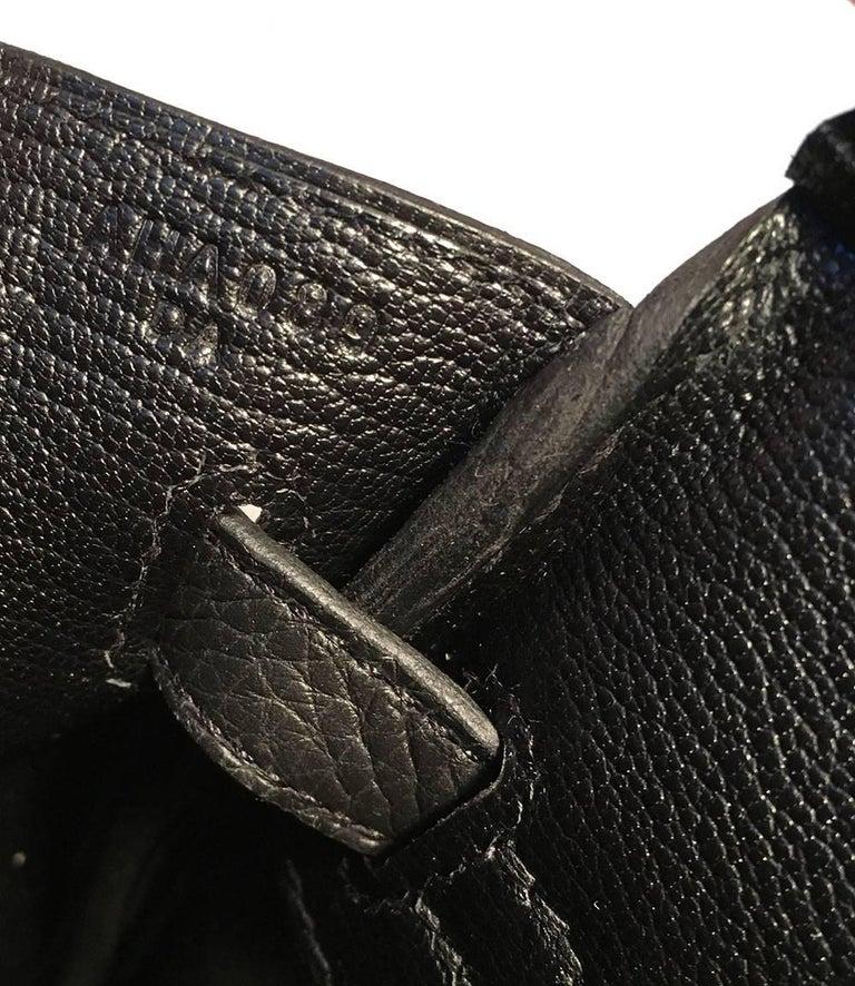 Hermes Black Clemence 25cm GHW Birkin Bag  For Sale 6