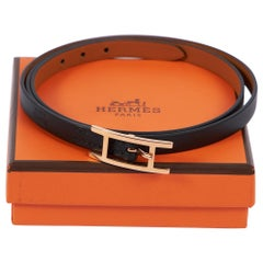New Hermes Black Rose Gold 4 Wraps Bracelet with Box