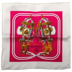 "New Hermes Brides De Gala Mini Silk 8"" Scarf with Box"