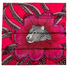 New Hermès Fuchsia Baobab Silk Scarf in Box