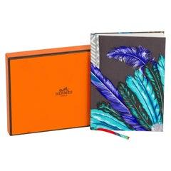 New Hermès Gray Brazil Silk Notebook