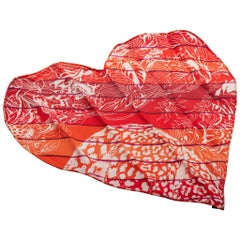 New Hermes Limited Edition Dallet Heart Mini Scarf in Box