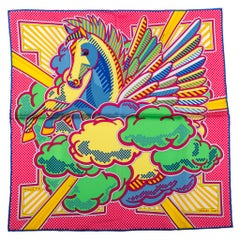 New Hermes Limited Edition Pegase Pop Silk Gavroche Scarf in Box