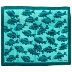 New Hermes Oversize Beach Towel Teal