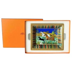 New Hermes Porcelain Change Tray Cheval d'Orient