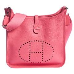 New Hermès Rose Azalee Evelyne PM in Box