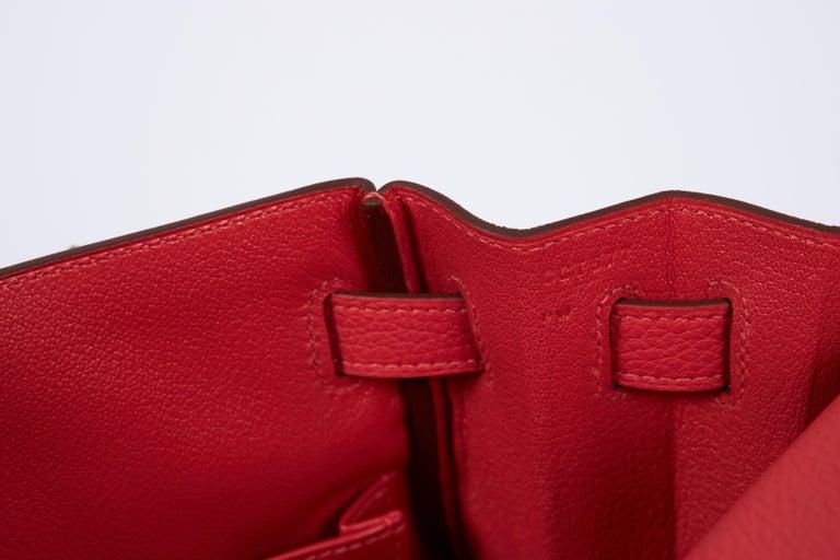 New Hermès Rouge Pivoine Togo 32cm Kelly Bag in Box 3