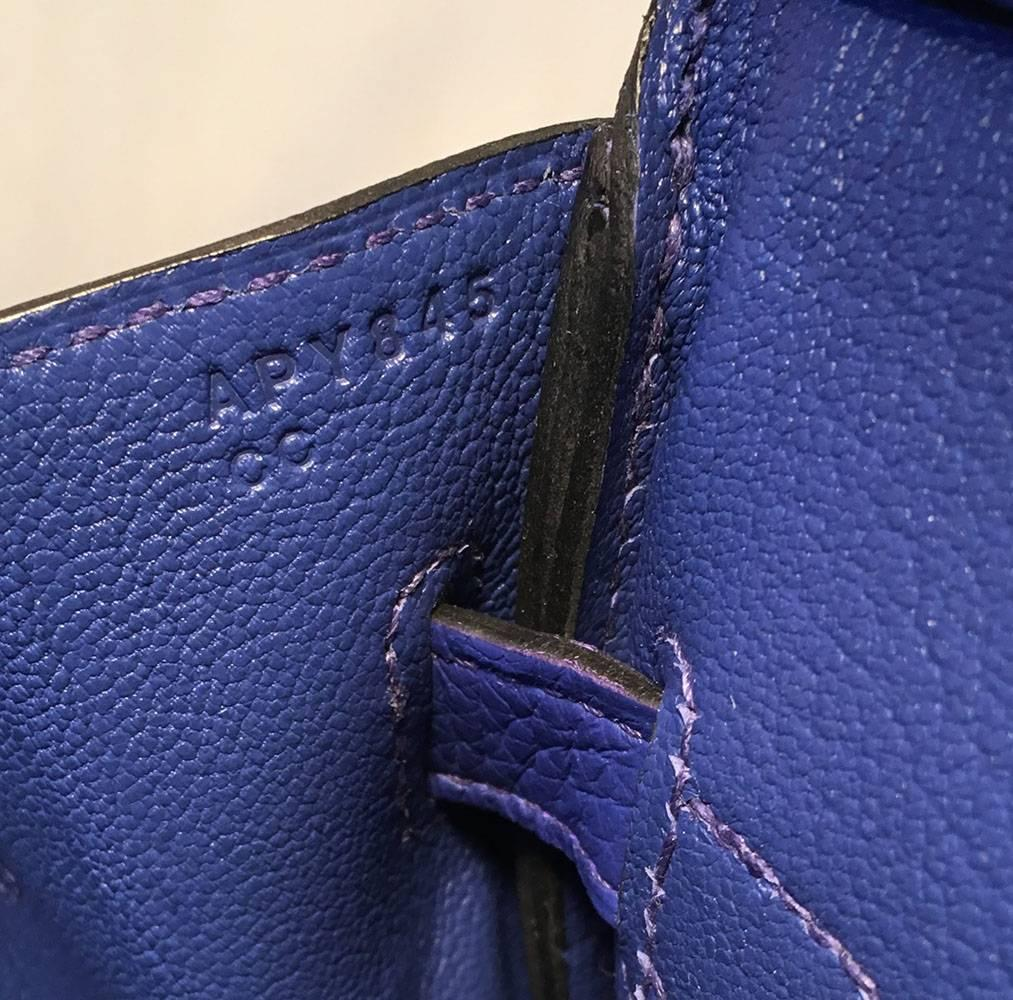 4bc5f7e2f443 Hermes Royal Blue Clemence Leather 30cm GHW Birkin Bag For Sale at 1stdibs