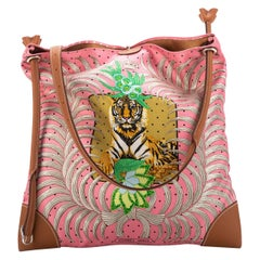 New Hermes Silk Barenia Leather Tiger Bag